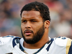 Watch: Wyche: Aaron Donald not at OTAs due to 'serious contract talks'