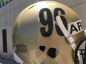 Watch: Saints wear No. 96 helmet decals in honor of Cortez Kennedy