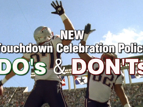 Watch: Dos and don'ts: New TD celebration policy