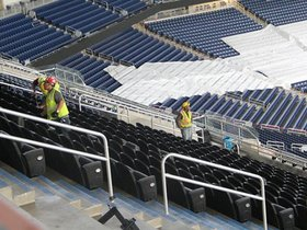 Watch: The New Ford Field update: Club seats installed