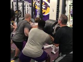 Watch: LSU RB Derrius Guice squats 650 pounds