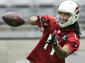 Watch: Larry Fitzgerald in midseason form with diving catch at practice