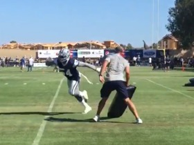 Watch: Jaylon Smith looks quick during training camp