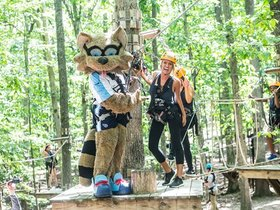 Watch: Cheerleaders Day at Arbortrek Canopy Adventures