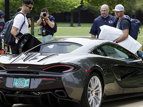 Watch: Outpunting his salary: Bears punter shows up in McLaren