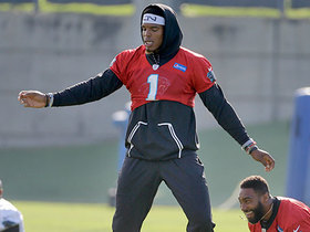 Watch: Cam Newton shows off training camp dance moves