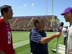 Watch: Sam Bradford: Kyle Rudolph and I bonded quickly last season