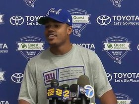 Watch: WR Sterling Shepard on goals for Training Camp