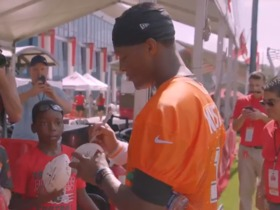Watch: Jameis Winston gives young fans valuable advice