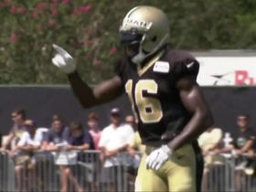 Drew Brees hits Brandon Coleman deep at Saints practice