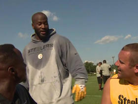 James Harrison crashes Big Ben's NFL Network interview