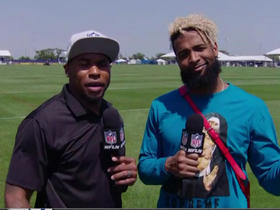 What does Odell Beckham put in his hair?