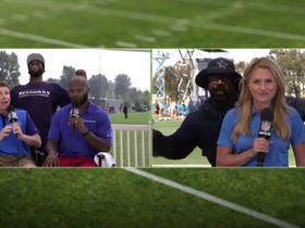 A simultaneous photobomb at Seahawks, Cowboys training camps