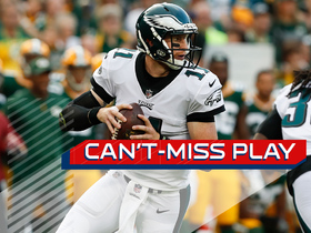 Watch: Can't-Miss Play: Wentz escapes pressure, finds Mack Hollins for TD