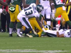 Watch: LaDarius Gunter forces and recovers fumble
