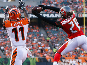 Watch: Vernon Hargreaves starts hot, picks off Dalton in end zone