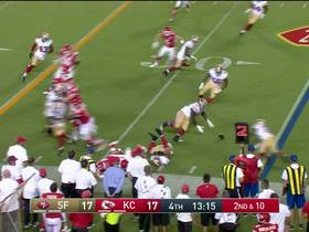 Watch: Austin Calitro forces fumble, 49ers recover