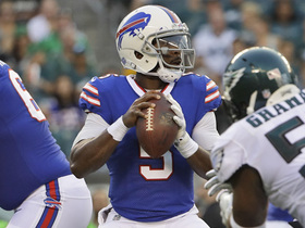 Watch: Tyrod Taylor throws two interceptions in first quarter against Eagles