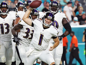 Watch: Ravens' backup QB shows wheels on 14-yard TD run