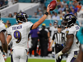 Watch: Justin Tucker recovers his own kickoff