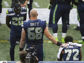 Watch: Justin Britt supports Michael Bennett in Anthem protest
