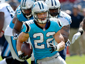 Watch: Christian McCaffrey turns on the wheels and picks up 38 yards