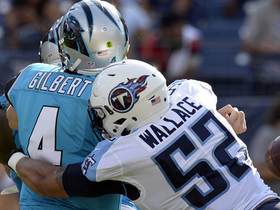 Watch: Aaron Wallace strip-sacks Garrett Gilbert, Titans recover