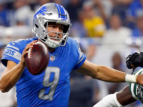 Watch: Matthew Stafford throws a dime to Marvin Jones Jr. at the back of the end zone for a touchdown