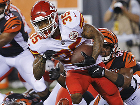 Watch: Charcandrick West with another great rush against the Bengals