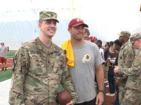 Watch: Redskins Salute Hosts U.S. Army Swearing In