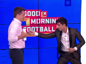 Watch: Kyle Brandt gets hit with 'The Inch Punch' by Philip Ng