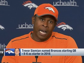 Watch: Vance Joseph: Siemian 'was more consistent' this preseason