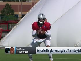 Watch: Rapoport: Newton expecting 8-10 plays against Jaguars Thursday