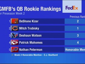 Watch: GMFB's QB Rookie Rankings