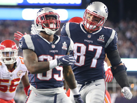 Mike Gillislee punches in his third touchdown of the night