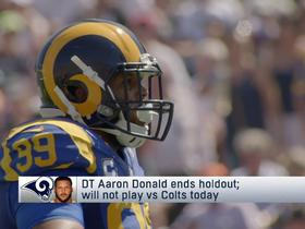 Rapoport: Aaron Donald ends holdout, will not play vs Colts