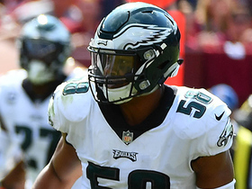 Jordan Hicks recovers sack fumble for Eagles