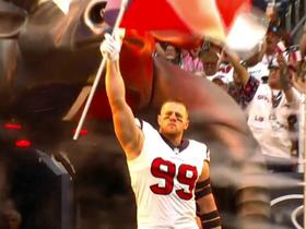 J.J. Watt takes the field in Houston