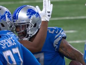 Glover Quin intercepts Carson Palmer