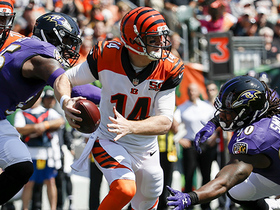 Andy Dalton throws a dart to A.J. Green for a 27-yard completion