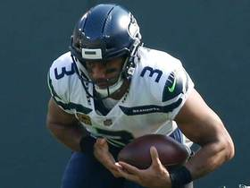 Watch: Russell Wilson scrambles up the middle for 29 yards