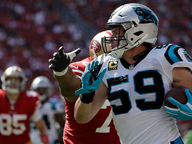 Watch: Luke Kuechly intercepts Brian Hoyer