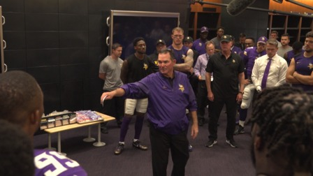 Mike Zimmer Postgame Locker Room