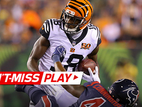 Watch: Can't-Miss Play: A.J. Green goes ALL THE WAY UP for long grab