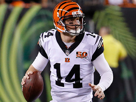 Watch: Andy Dalton buys time, scrambles to find Alex Erickson for 37 yards