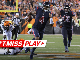 Watch: Can't-Miss Play: Deshaun Watson chews up Bengals on 49-yard TD run