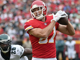 Travis Kelce double move goes for 44 yards