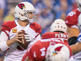Carson Palmer hits Ifeanyi Momah for a 46-yard catch