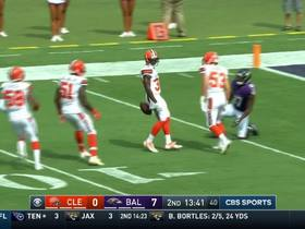 Watch: Jason McCourty picks off Flacco on deep bomb