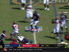 T.J. Ward makes diving tackle in the backfield for a 3-yard loss